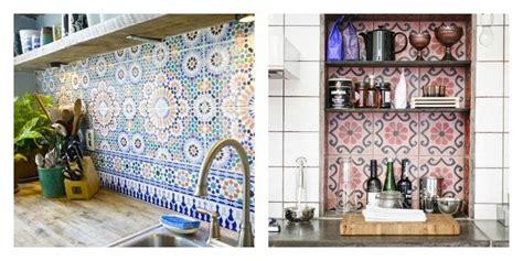 credence cuisine imitation carrelage carrelage marocain un en forme de carreaux