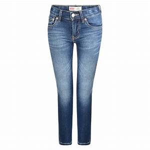 Levi's Girls Blue Skinny Jeans with Faded Knees - Levi's ...