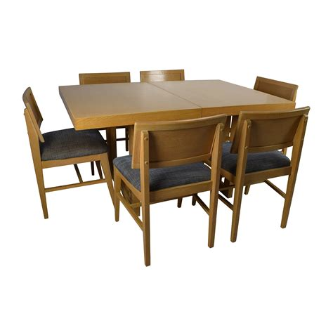 59 mid century extension dining table and six