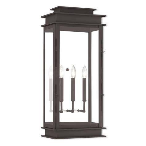 livex lighting princeton 3 light bronze outdoor wall mount