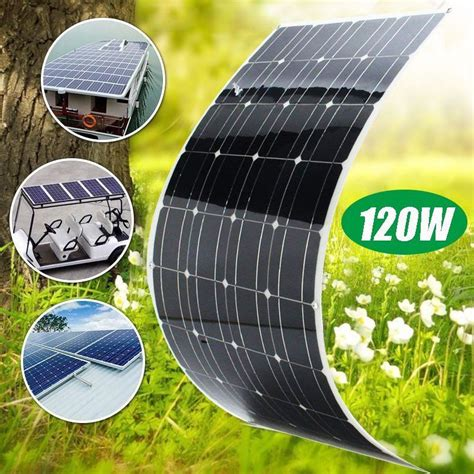 bendable 120w 120 watt lightweight solar panel 12v battery offgrid ebay