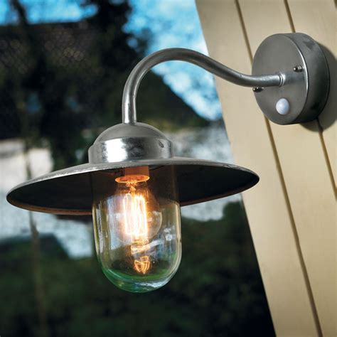 luxembourg wall outdoor light galvanized steel pir