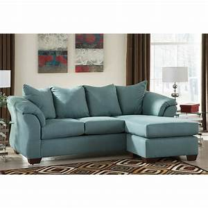 Ashley furniture blue sofa ashley furniture darcy sofa for Sectional couch outlet