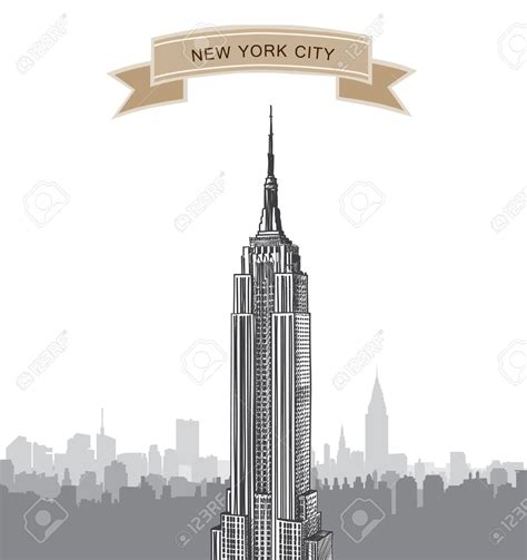 Skyline Clipart Empire State Building Pencil And In