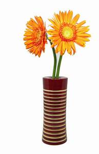 Organic handcrafted wooden flower vase - Maroon - ArtyOwl