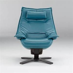 Natuzzi Revive Blue Leather Recliner     Natuzzi Is The Best In The Business And Expect No Less