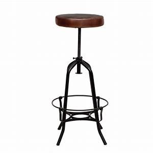 Tabouret De Bar Marron : tabouret de bar m tal bill 46cm marron ~ Melissatoandfro.com Idées de Décoration