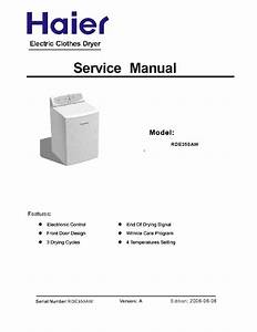 Haier Rde350aw Service Manual Download  Schematics  Eeprom  Repair Info For Electronics Experts