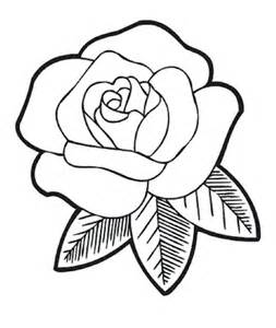 Easy to Draw Rose Coloring Page