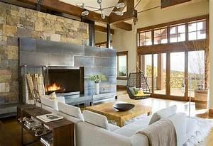 Deco Melange Rustique Et Moderne : 30 rustic living room ideas for a cozy organic home ~ Melissatoandfro.com Idées de Décoration