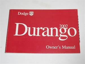 2002 Dodge Durango Owners Manual Book