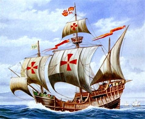 Christopher Columbus Boat Jesus templars survival the commandery of saint michael
