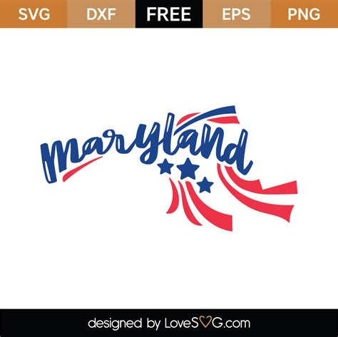 Add all the items you want into your cart, including the free item(s). Free Maryland SVG Cut Files (3) | Lovesvg.com
