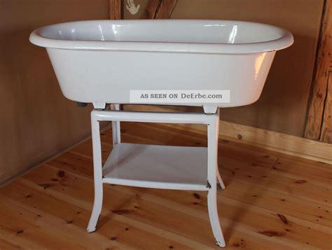 Alte Emaille Baby Badewanne, Ca 30er, Shabby Chic, Waschbecken, Wanne