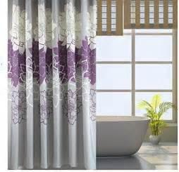 bathroom purple gray flowers waterproof polyester shower curtain 72 x 72 inch ebay