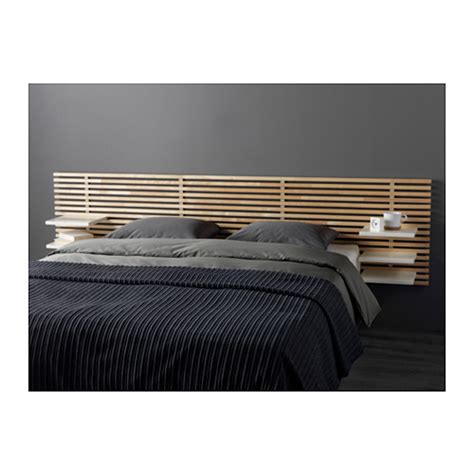 mandal headboard birch white 240 cm ikea