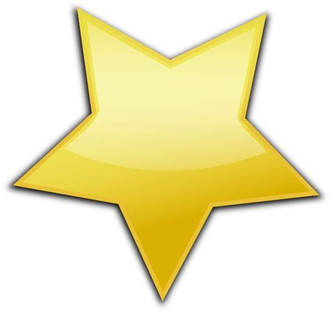 large star gold clip