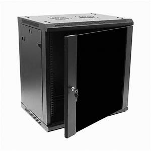 12U IT Wall Mount Network Server Data Cabinet Rack Glass ...