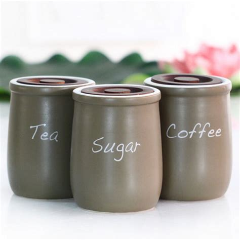 Kitchen Canisters Green by Setof 3 Ceramic Kitchen Canisters Storage Jar Sugar Tea