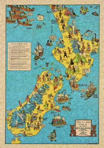 historical map   zealand wooden jigsaw puzzle