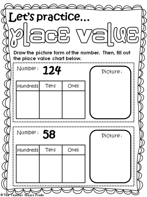 place value worksheets 2nd grade second grade place