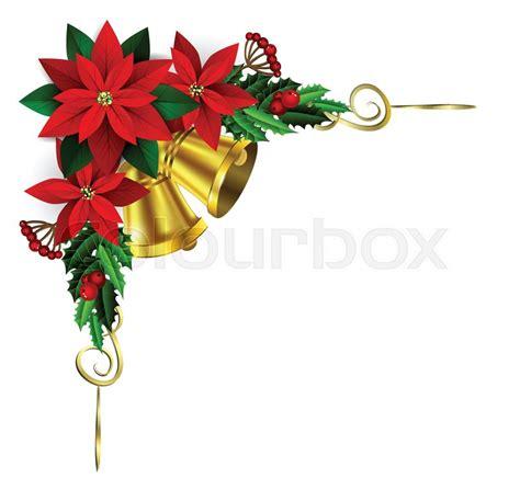 christmas corner decoration  stock vector