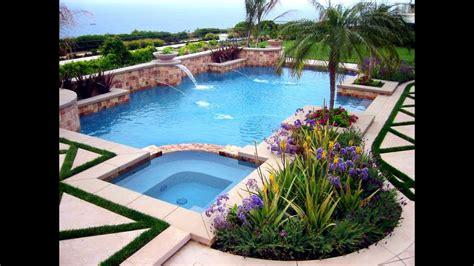 swimming pool landscaping ideas  backyard youtube