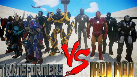Iron Man Armors Army Suit Vs Transformers Autobot Epic