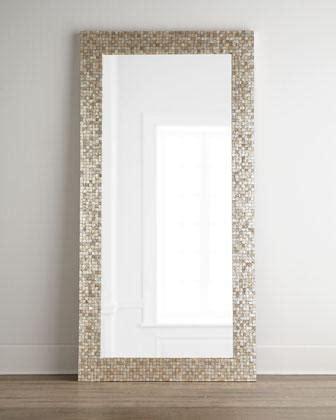 floor mirror neiman tonal capiz floor mirror i neiman marcus