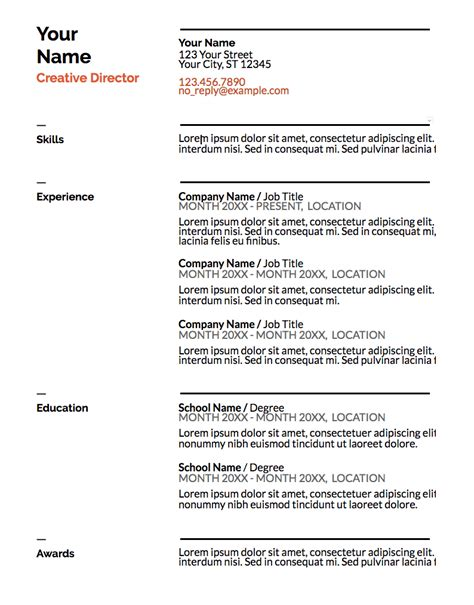 5 Resume Templates by 5 Free Resume Templates You Never Knew You Had Glassdoor