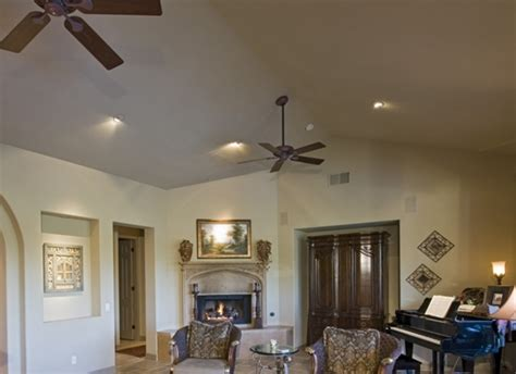 vaulted ceiling lighting ideas
