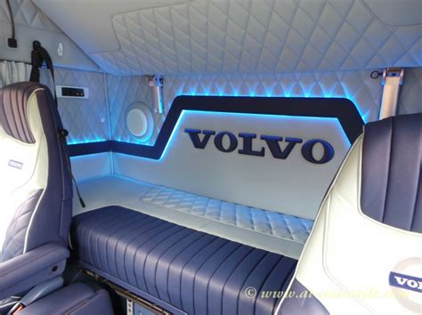 volvo fh  custom design leather interior  autostyle