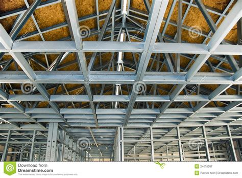 construction site cold formed steel framing stock image image  secure green
