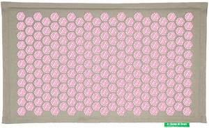 tapis champ de fleurs pranamat naturel rose forme zen With tapis champ de fleurs achat