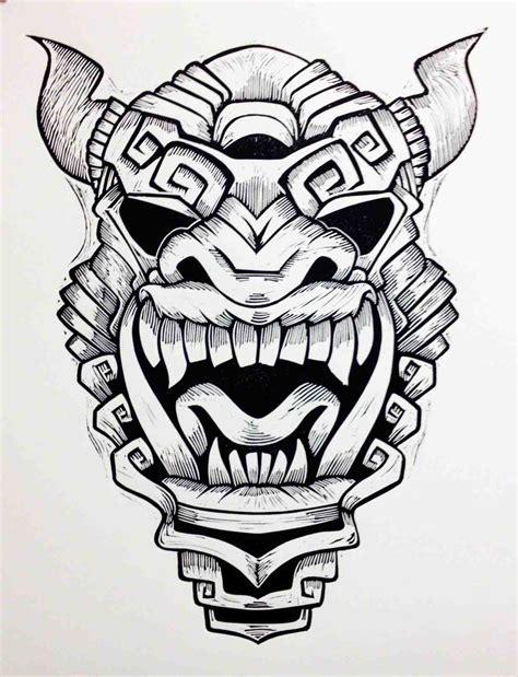 Aztec Women Warrior Art