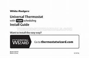 Emerson Up310 Thermostat Install Guide