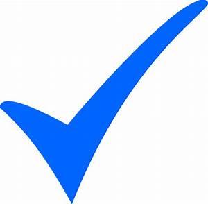 Simple Blue Tick Clip Art at Clker.com - vector clip art ...