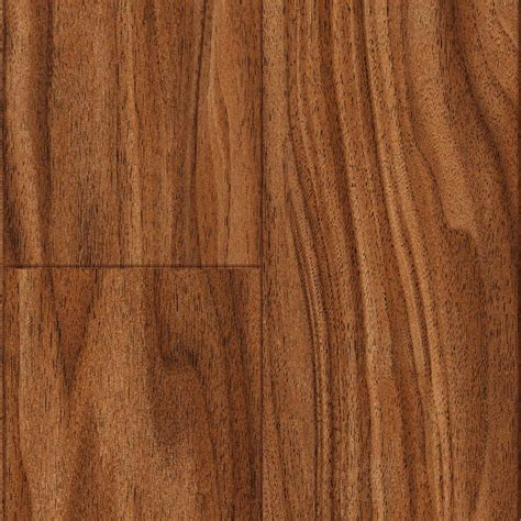 laminate flooring 50 sq ft trafficmaster kane creek walnut 12 mm thick x 4 15 16 in wide x 50 3 4 in length laminate
