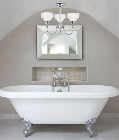 glass chrome ceiling light for bathroom