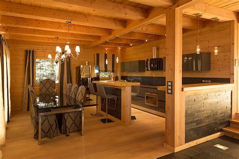 cuisine chalet bois cuisine et bois ilot et comptoir de cuisine en