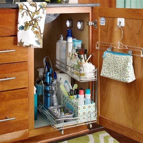 under the sink storage solutions under sink vanity
