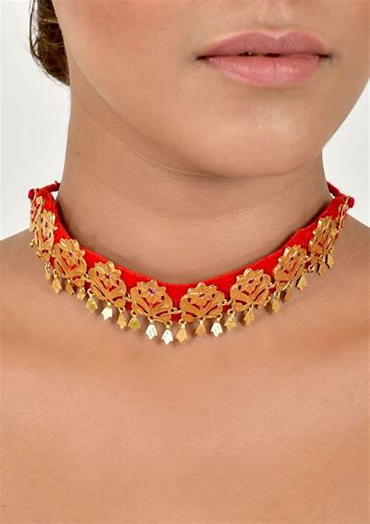 Choker Gold Silver Necklace Tone Handmade Gift