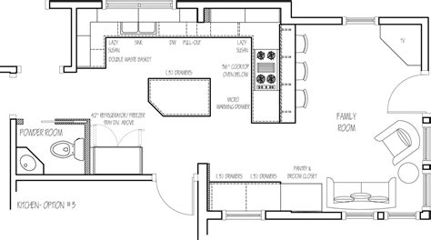 kitchen floor plans floor plan option 3 home ideas kitchen