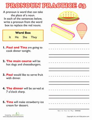 pronoun practice 3 homeschool grammar worksheets 2nd