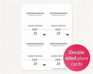 hashtag place cards wedding templates and printables With double sided place card template