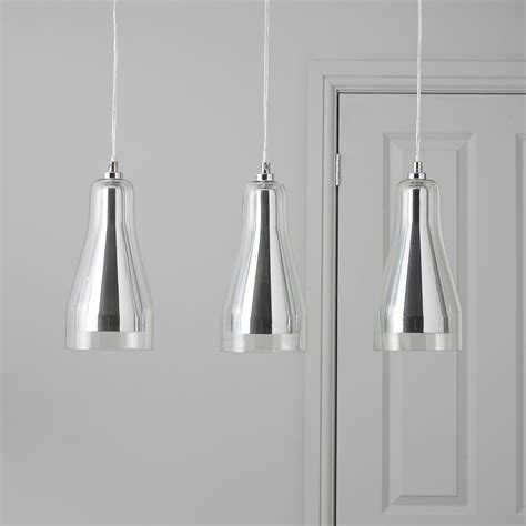 b q kitchen lighting ceiling guardi glass droplet chrome effect 3 l pendant ceiling 4228