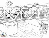 Coloring Thomas Train Bridge Tank Engine Diesel Buildings Percy Friends Printable Architecture Number Clip Ausmalbilder Freunde Seine Worksheet Boys Games sketch template