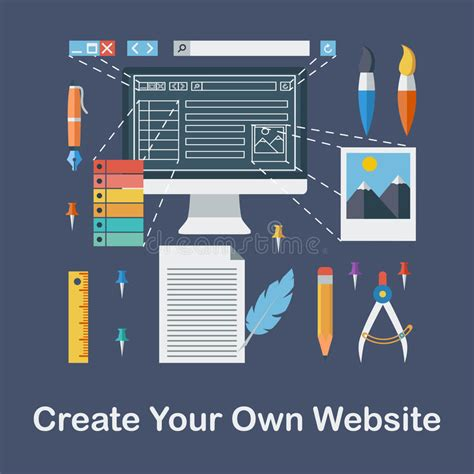 design your own website create your own website stock vector image 47578663