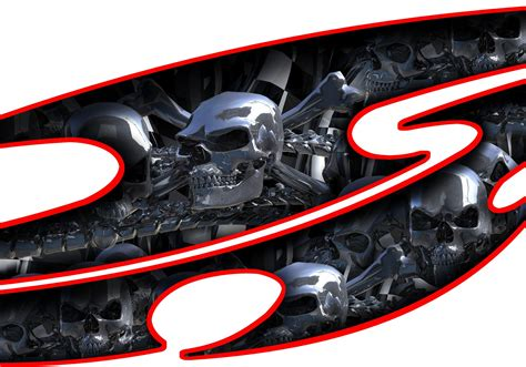 Car Skull Decals, Truck Graphic Skulls, Semi Chrome Skull