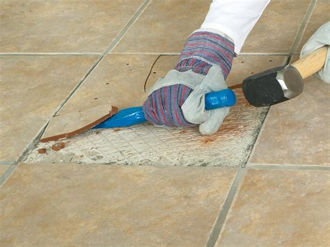 Replacing Hardwood Floors With Tile by How To Replace A Broken Floor Tile How Tos Diy